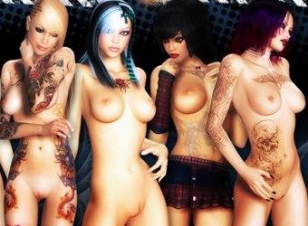 3d ragazze nude male