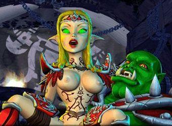 Ripresa del gioco porno con la strategia di guerra galassia e il sesso elfo