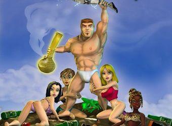 Gioco porno parodia con l'azione di lotta e il sesso dei cartoni animati