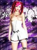 Ragazza dai capelli di corsetto bianco rosa