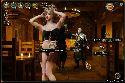 Danze di barista giocherellona per i visitatori di pensione